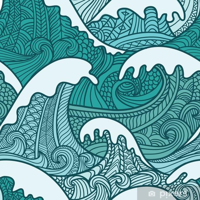 Vinilo Pixerstick Sea seamless pattern - Arte y lifestyle