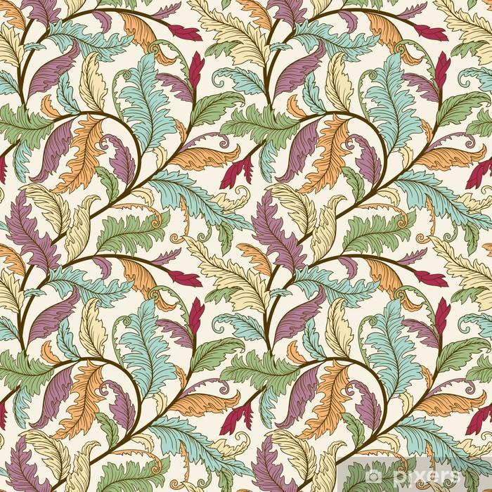 Papier peint vinyle Leaves seamless pattern - Thèmes