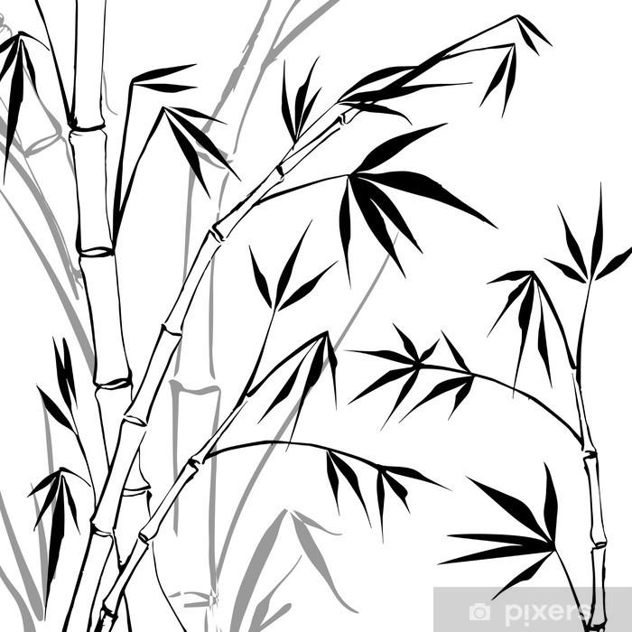 Papier peint vinyle Bambou - Situations