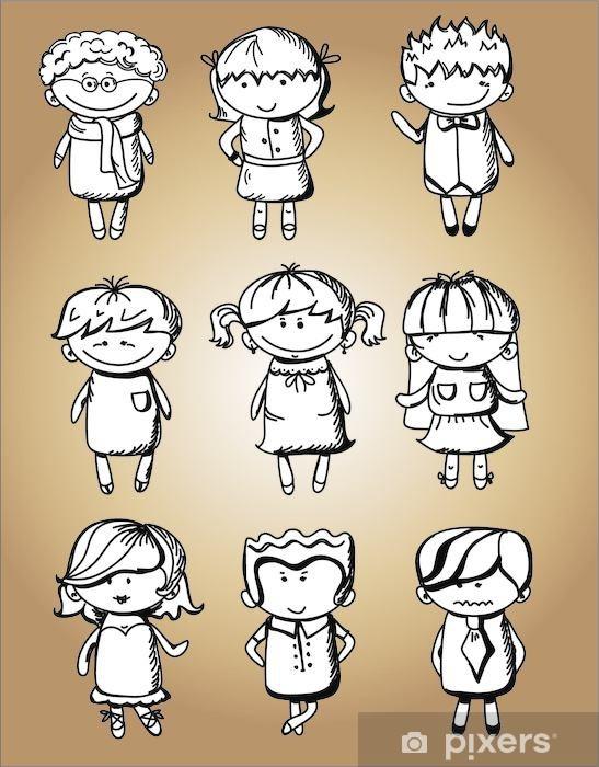 Papier peint vinyle Mignon de bande dessinée pour les enfants - Enfants