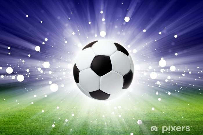 Soccer ball, stadium, light Vinyl Wall Mural -