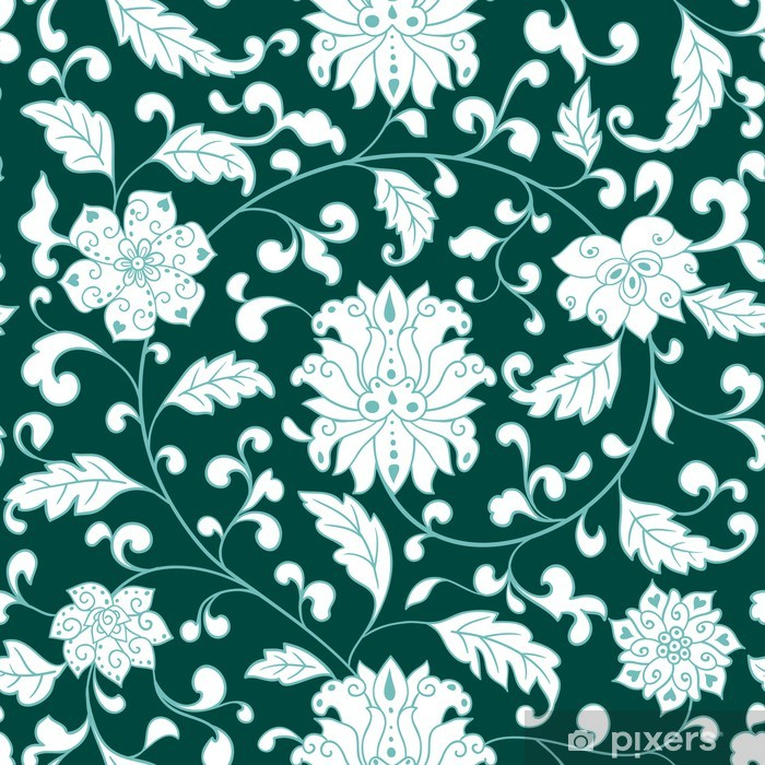 Vinyl-Fototapete Seamless floral pattern - Hintergründe