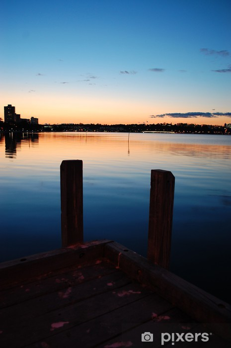 Sticker Pixerstick Sunset Jetty Swan River - Paysages urbains