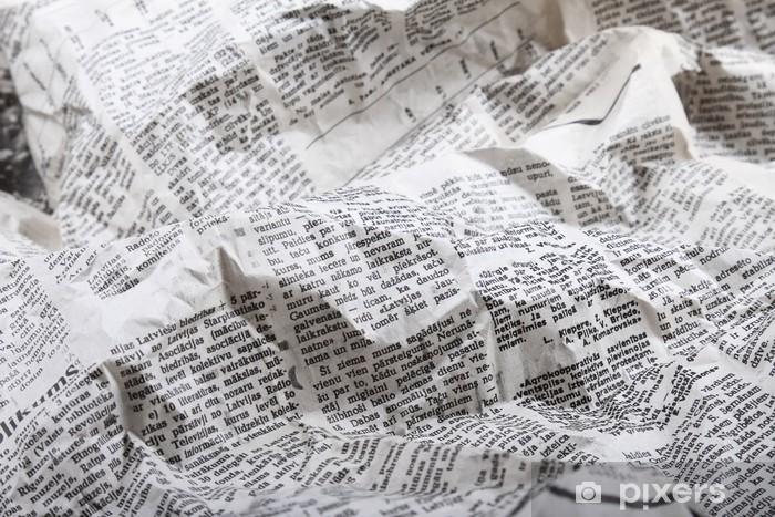 background of old crumpled newspaper Pixerstick Sticker - iStaging