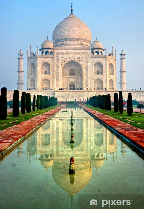 Sticker Pixerstick Taj Mahal au lever du soleil, Agra, dans l'Uttar Pradesh, en Inde. - Thèmes