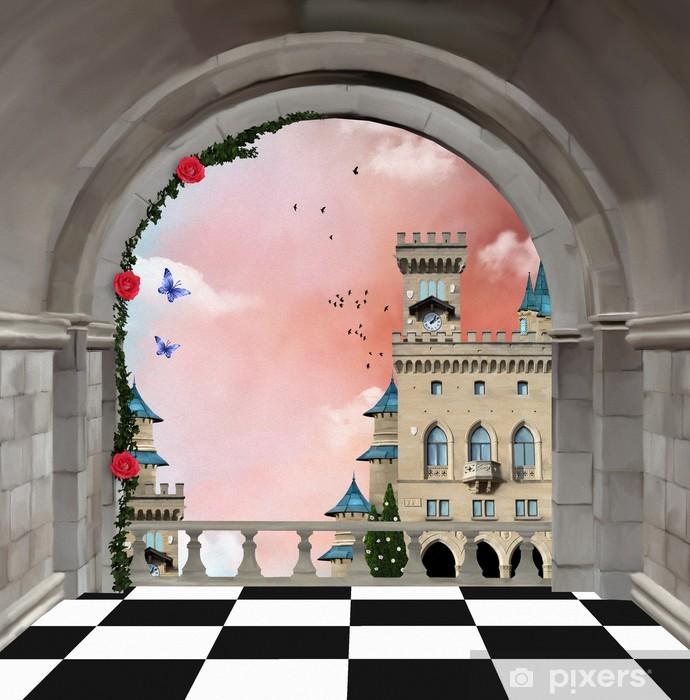 Fototapeta winylowa Balkon Castle - Zabytki