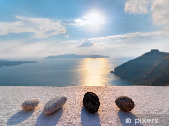 Naklejka Pixerstick Grecja Santorini Fira niesamowity widok na morze - iStaging