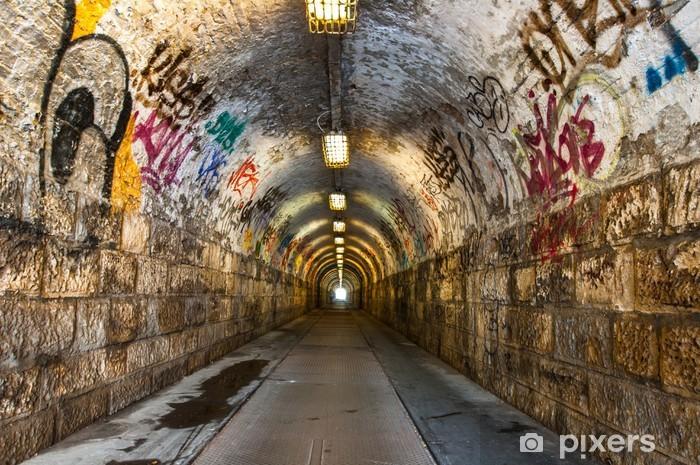 Urban underground tunnel Pixerstick Sticker - Themes