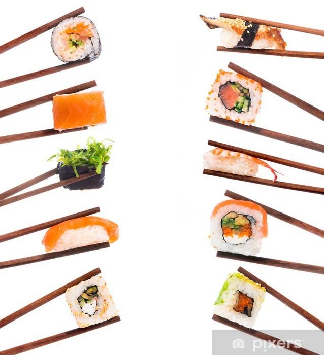 Papier peint vinyle Ensemble de Sushi - Sushi