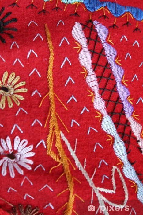 Vinyl-Fototapete Bestickte Textilien. Kostüm typische kanarische - Texturen