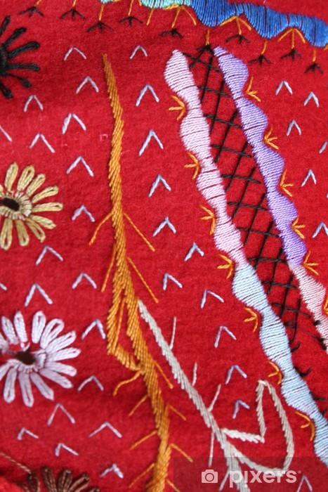 Sticker Pixerstick Broderie textile. costume canari - Textures