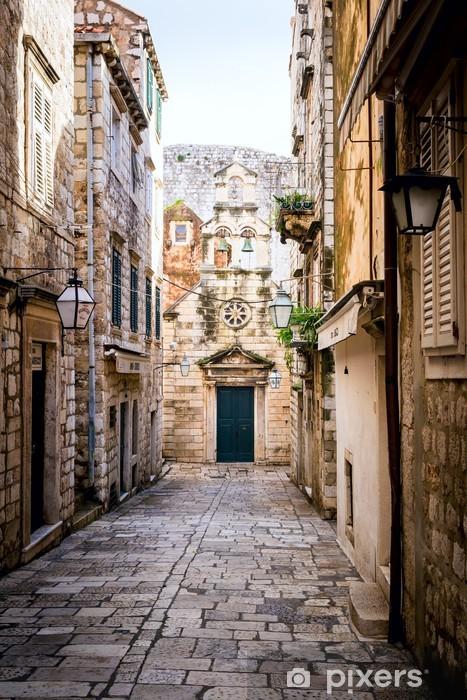 Fotomural Estándar Calle estrecha dentro de casco antiguo de Dubrovnik - Temas