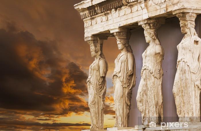 Fototapeta winylowa Kariatydy w Erechtejon od ateńskiego Akropolu, Grecja - Tematy