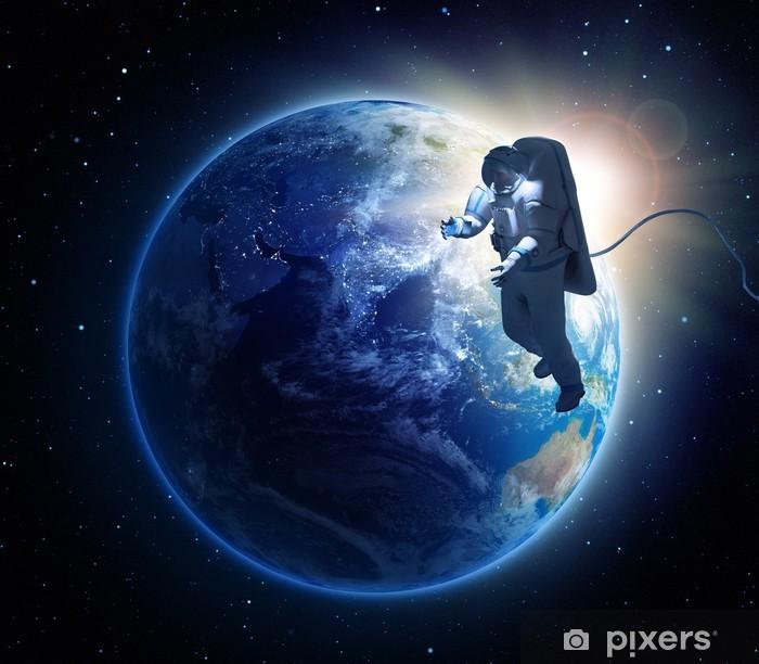 Naklejka Pixerstick Spacewalk astronauta - Przestrzeń kosmiczna