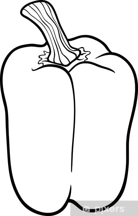 Boyama Kitabi Icin Biber Sebze Karikatur Cikartmasi Pixerstick