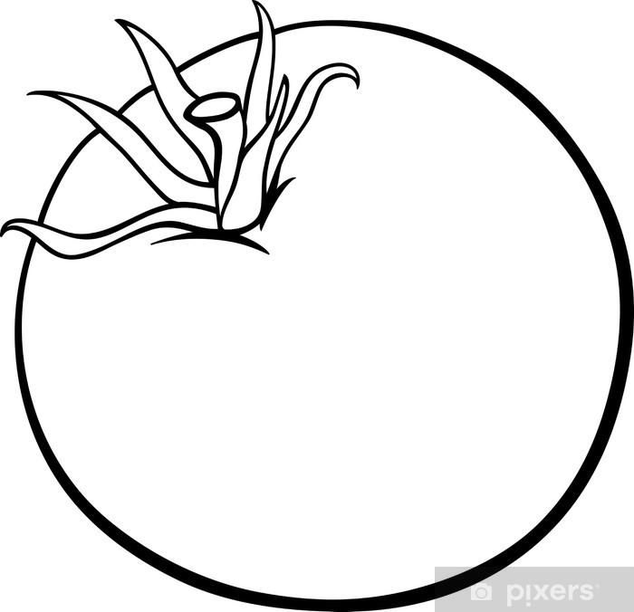 Vinilo De Dibujos Animados De Vegetales De Tomate Para Colorear Pixerstick