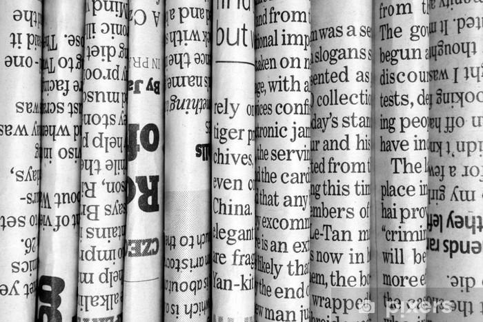Naklejka Pixerstick Wiersz gazety w czerni i bieli - Przeznaczenia