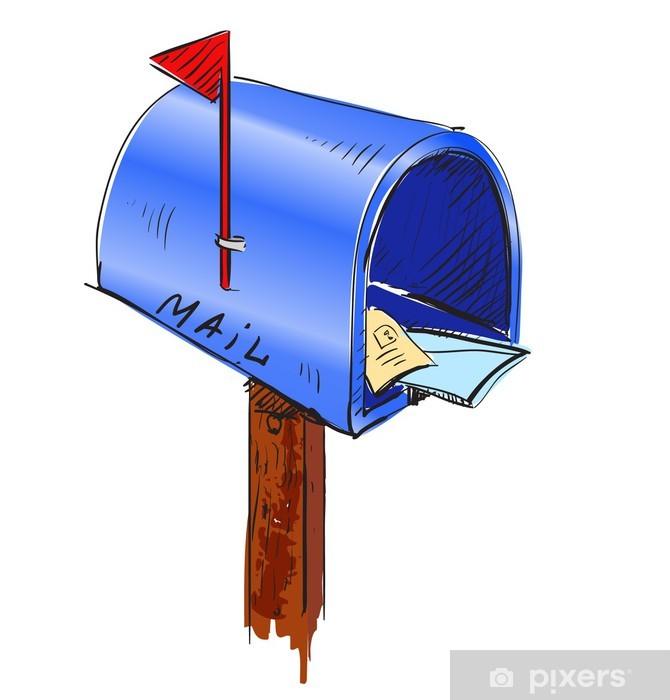 Papier peint vinyle Icône de dessin animé de boîte aux lettres - Art et création
