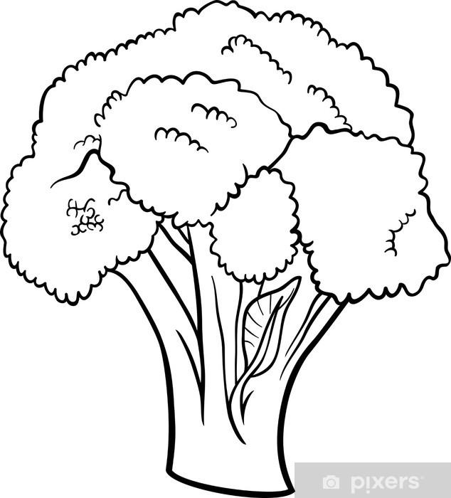 Boyama Kitabi Icin Brokoli Sebze Karikatur Duvar Resmi Pixers