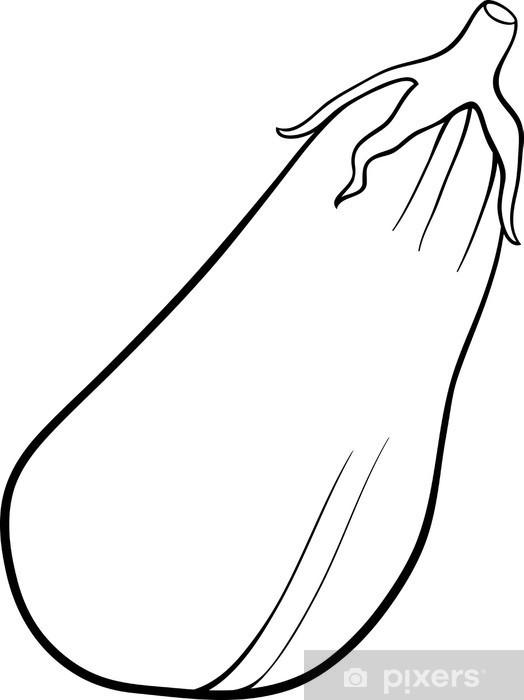 Boyama Kitabi Icin Patlican Sebze Karikatur Cikartmasi Pixerstick