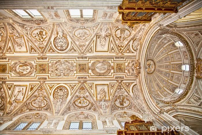 Papier peint vinyle Dôme de la Grande Mosquée et Cathédrale Mezquita de Cordoue, en Espagne. - Europe