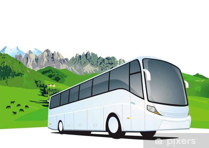 Papier peint vinyle Voyage en bus dans les montagnes - Vacances