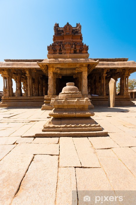 Vinyl-Fototapete Courtyard Vorderstein Sri Krishna-Tempel in Hampi - Asien