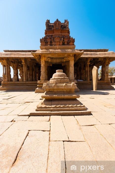 Fototapeta winylowa Courtyard przedniej kamienia Sri Krishna Temple Hampi - Azja