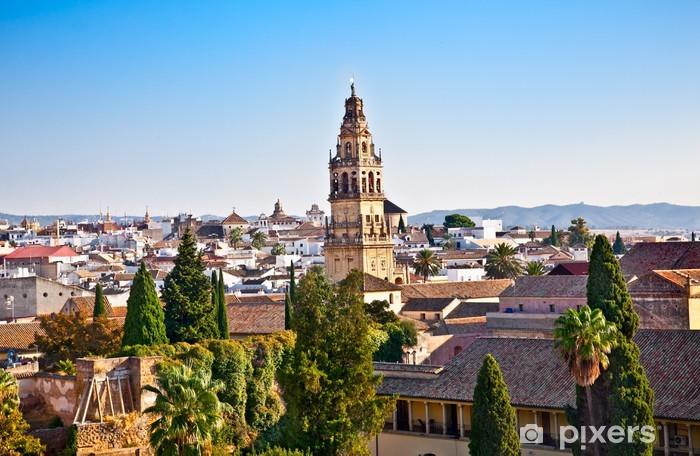Papier peint vinyle Vue panoramique de l'Alcazar sur les toits de Cordoue, en Andalousie, Espagne - Europe