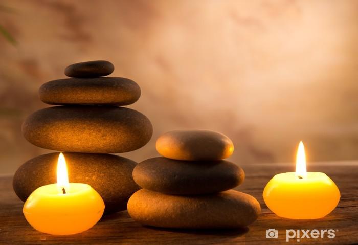 Spa-asetelma aromaattisilla kynttilöillä Pixerstick tarra - Destinations