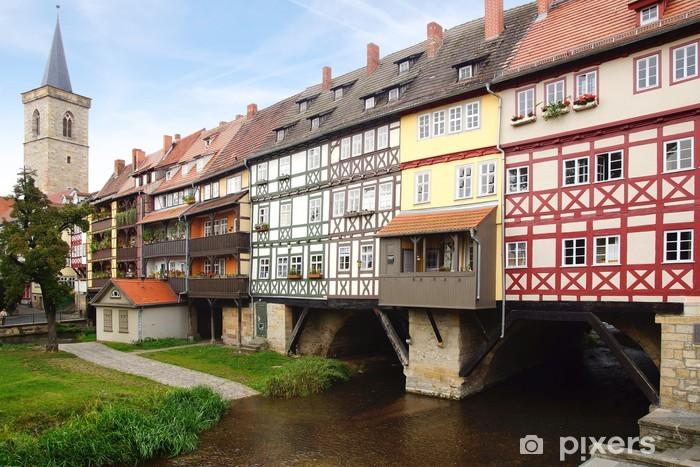 """Fototapeta winylowa Kupców """"Most. Erfurt, Niemcy. - Niemcy"""