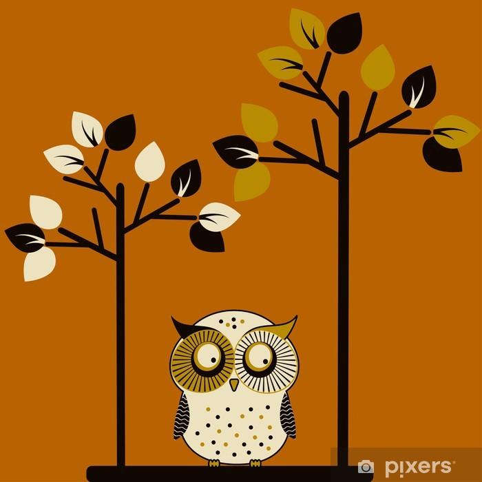 Plakát Roztomilý sova a dva stromy - Témata