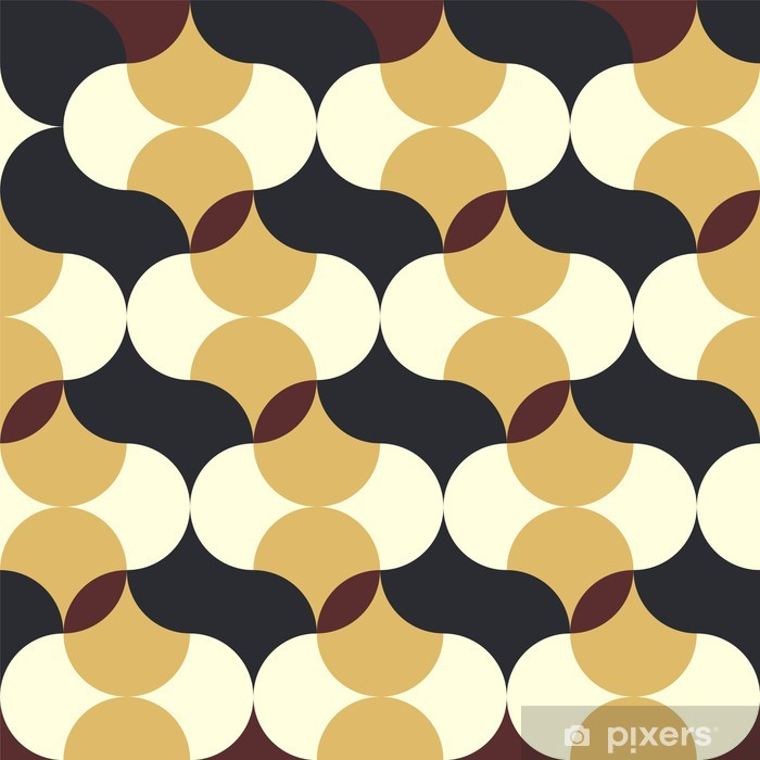 Abstrakt retro geometrisk mønster Selvklæbende fototapet - Baggrunde