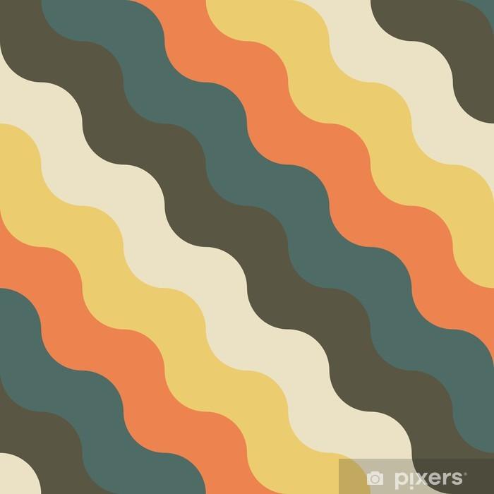 Plakat Streszczenie retro geometryczny wzór - Tła