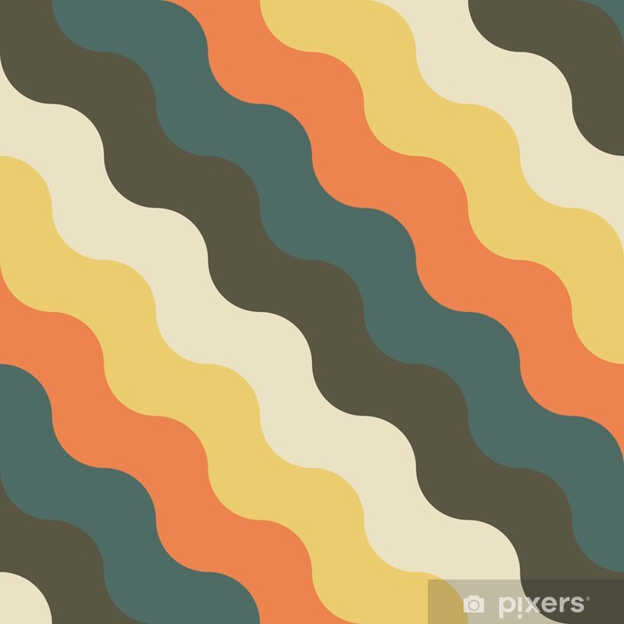 abstract retro geometric pattern Vinyl Wall Mural - Backgrounds