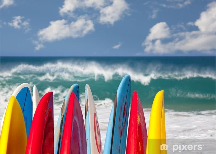 Papier peint vinyle Surfboards à la plage Lumahai Kauai - Thèmes