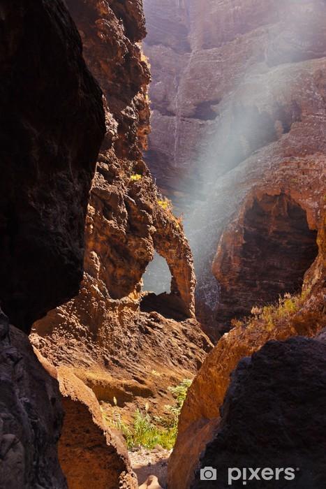Carta da Parati in Vinile Famosa canyon Masca a Tenerife - Isole Canarie - Vacanze