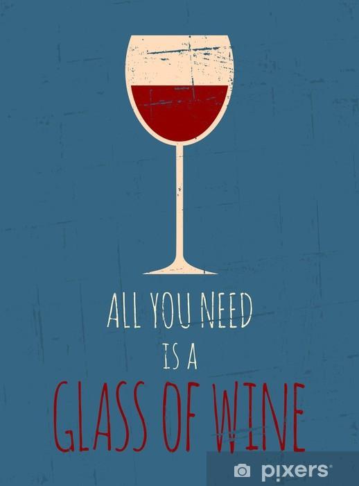 Fototapeta winylowa Retro Red Wine Poster - Tematy
