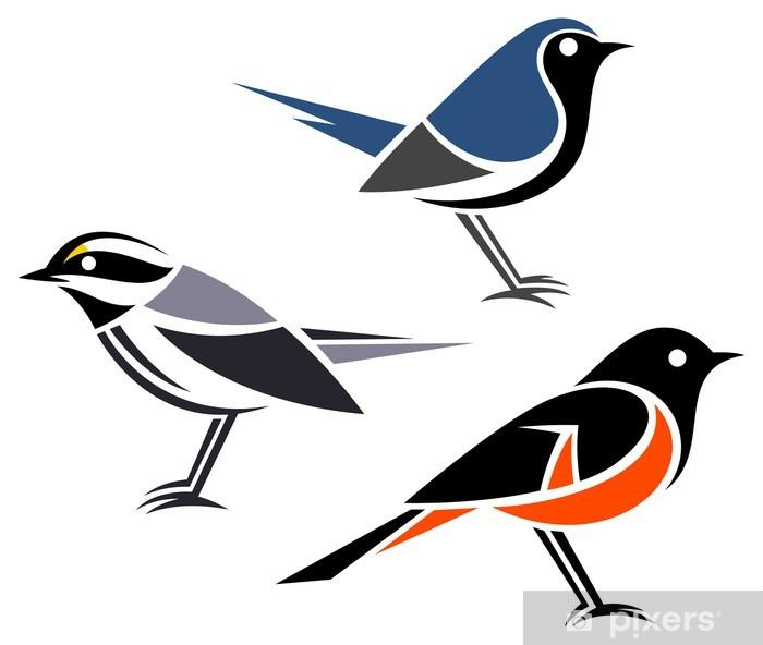 Plakat Stylizowane ptaki --- Pokrzewki - Ptaki