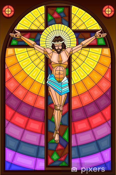 Fotomural Estándar Pintura Vitral de la crucifixión - Temas
