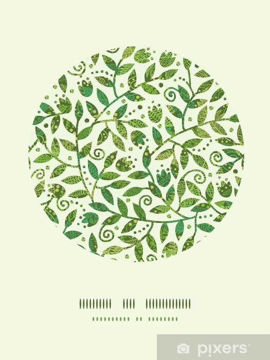 Papier peint vinyle Vecteur texture Branches colorés Cercle Décor Motif - Fleurs