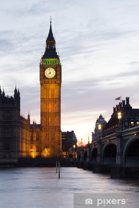 Sticker Pixerstick Big Ben et Westminster Bridge - Thèmes