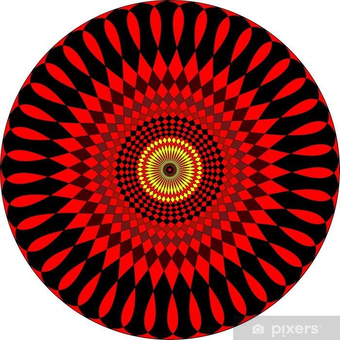 Papier peint vinyle Mandala couleur énigmatique - Sticker mural