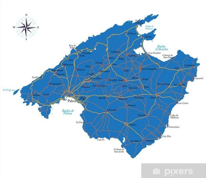 Mallorca Kartta Pixerstick Tarra Pixers Elamme Muutoksille