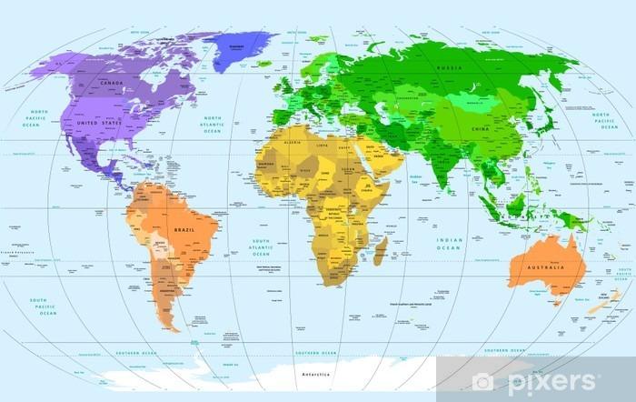 Fototapeta winylowa Mapa świata - Tematy
