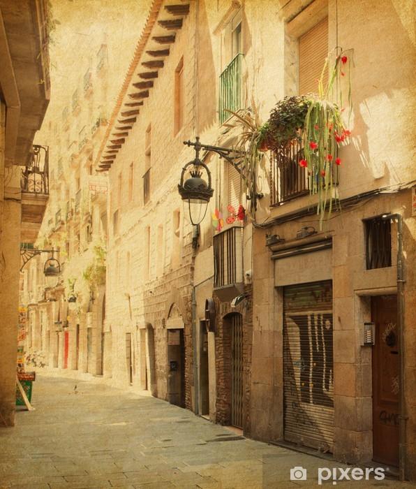 Fotomural Estándar Imagen Retro de Сarrer de la calle Sitges, Barcelona. - Temas