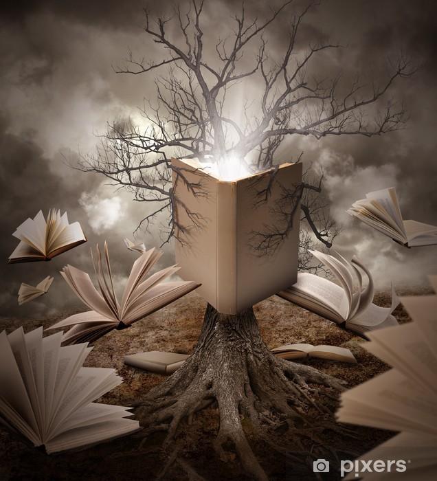 Naklejka Pixerstick Stare Drzewo Reading Book Story - Edukacja