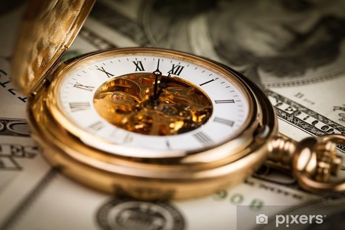 Carta da Parati in Vinile Concetto di denaro tempo - Finanza