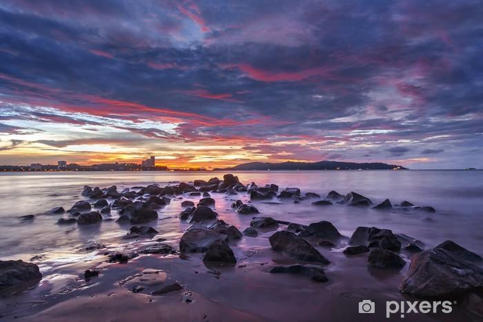 Naklejka Pixerstick Dramatyczna słońca w Kota Kinabalu - Wakacje