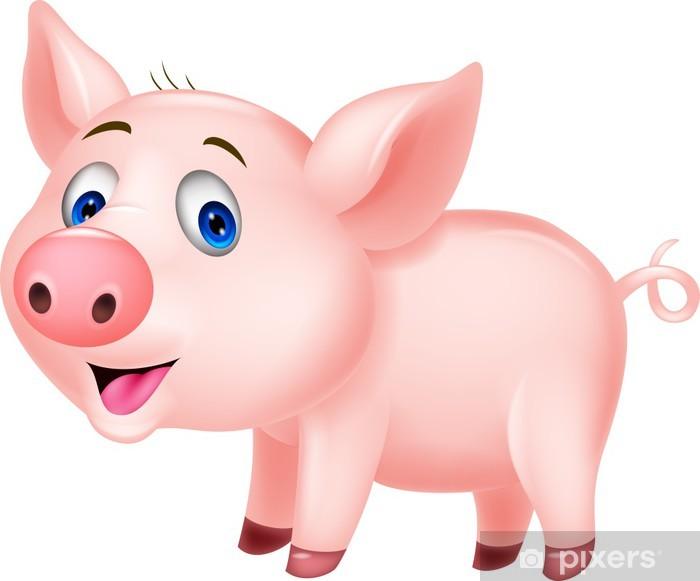 Naklejka Pixerstick Cute cartoon pig - Ssaki